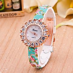 お買い得  レディース腕時計-女性用 ファッションウォッチ クォーツ Plastic バンド 白 / ブルー / レッド / グリーン / ピンク ブランド-