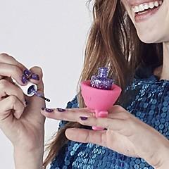 お買い得  ペディキュア用ツール-柔軟な女性新しいマルチウェアルマニキュアボトルホルダーリングすべての指にフィット