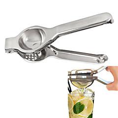 abordables Drinking Tools-tetera jugo de limón prensa de mano de acero inoxidable de color naranja exprimidor de limón herramienta herramienta de cocina exprimidor