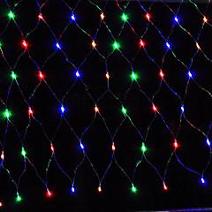 お買い得  LED ストリングライト-5m ストリングライト 96 LED Dip LED 温白色 / レッド / ブルー 充電式 / 防水 100-240 V / # / IP65