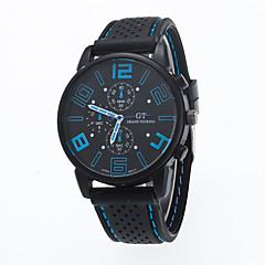 preiswerte Herrenuhren-Herrn Armbanduhr Armbanduhren für den Alltag Silikon Band Charme / Modisch Schwarz / Tianqiu 377