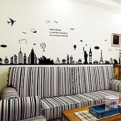 애니멀 / 건축 / 카툰 / 워드&인용구(부호) / 정물화 / 패션 / 풍경 / 빈티지 / 레져 벽 스티커 플레인 월스티커,PVC 90*60*0.1