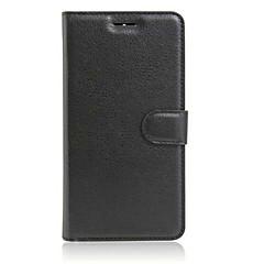 Mert Lenovo tok Pénztárca / Kártyatartó / Állvánnyal / Flip Case Teljes védelem Case Egyszínű Kemény Műbőr Lenovo