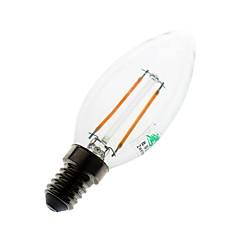 お買い得  LED 電球-180 lumens lm E14 LEDキャンドルライト C35 2 LEDの COB 装飾用 温白色 AC 220-240V