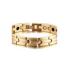 Муж. Браслеты-цепочки и звенья Магнитная терапия Мода Pоскошные ювелирные изделия европейский Нержавеющая сталь Бижутерия Назначение