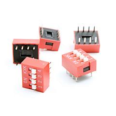 DIY 4 위치 8 핀 2.54MM 피치 딥 스위치 (5piece 팩)