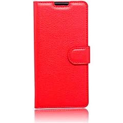 För Sony-fodral / Xperia XA / Xperia Z5 Plånbok / med stativ / Lucka fodral Heltäckande fodral Enfärgat Mjukt PU-läder för SonySony