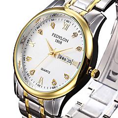 Mulheres Relógio Elegante Relógio de Moda Quartzo Calendário Aço Inoxidável Banda Luxo Legal Prata