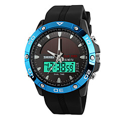 Skmei® Men's Dual Time Zone Solar Multifunction Sports Wrist Watch 30m Waterproof Assorted Colors