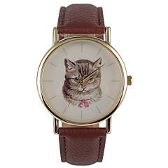 お買い得  レディース腕時計-女性用 リストウォッチ クォーツ 耐水 PU バンド ハンズ カジュアル ファッション ブラウン - Brown