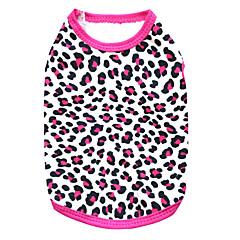 halpa Koirien vaatteet ja tarvikkeet-Kissat / Koirat T-paita Maalattu / Ruusunpunainen Koiran vaatteet Kesä Matta musta Muoti