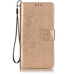 Întreg Corpul portofel / Suport de Card / Flip Συμπαγές Χρώμα Piele PU Απαλό Embossed Leather Caz acoperire pentru HuaweiHuawei P9 /