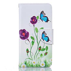 Pentru Carcasă LG Titluar Card / Portofel / Cu Stand / Întoarce / Model Maska Corp Plin Maska Floare Greu PU piele LGLG K10 / LG K8 / LG