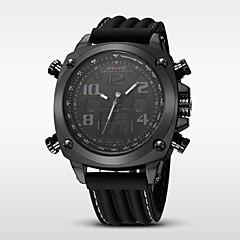 お買い得  大特価腕時計-WEIDE 男性用 スポーツウォッチ アラーム / カレンダー / 耐水 シリコーン バンド ぜいたく ブラック