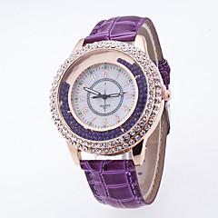 preiswerte Damenuhren-Damen Armbanduhr Quartz Armbanduhren für den Alltag PU Band Analog Perlen Modisch Schwarz / Weiß / Blau - Grün Blau Rosa