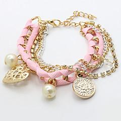 preiswerte Armbänder-Damen Perle Bettelarmbänder - Künstliche Perle Herz Modisch Armbänder Beige / Rosa / Hellblau Für Alltag