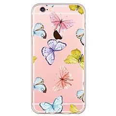 Недорогие Кейсы для iPhone 6-Кейс для Назначение Apple iPhone 6 iPhone 6 Plus Ультратонкий С узором Кейс на заднюю панель Бабочка Мягкий ТПУ для iPhone 6s Plus iPhone