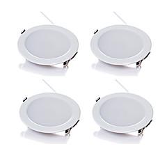 5W LEDダウンライト 480 lm 温白色 / クールホワイト SMD 5730 明るさ調整 交流220から240 V 4枚