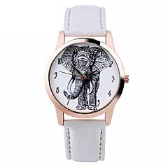 Mujer Reloj de Moda Reloj Casual Cuarzo Piel Banda Negro Blanco Marrón