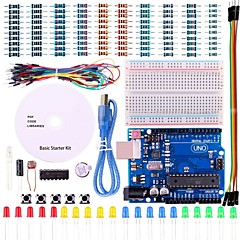 cheap Sensors-UNO Project Basic Starter Kit with Tutorial and UNO R3 for Arduino