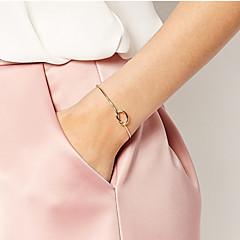 Kadın's Bilezikler Halhallar Basic Tasarım Eski Tip minimalist tarzı Moda kostüm takısı alaşım Mücevher Mücevher Uyumluluk Günlük Spor