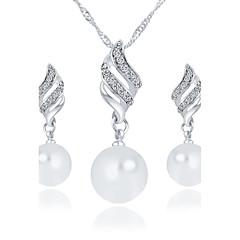 abordables Set de Joyas de Perlas-Mujer Perla Conjunto de joyas Pendientes / Collare - Perla Artificial Plata / Dorado Juego de Joyas / Los sistemas nupciales de la joyería