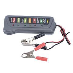 abordables OBD-nueva batería del coche automático de carga del alternador 12v 6 LED de la batería probador digital de la luz