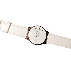 preiswerte Armbanduhren für Paare-Paar Armbanduhr Armbanduhren für den Alltag PU Band Elegant Schwarz / Weiß