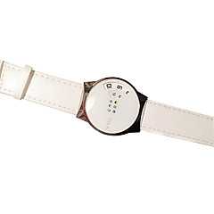 abordables Relojes de Pareja-Pareja Reloj de Pulsera Reloj Casual PU Banda Elegante Negro / Blanco