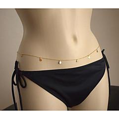 Damskie Biżuteria Łańcuszek na brzuch Łańcuch nadwozia / Belly Chain Frędzle Sexy Modny Europejski biżuteria kostiumowa Stop Biżuteria Na
