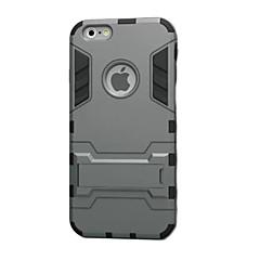 Недорогие Кейсы для iPhone 6 Plus-Кейс для Назначение Apple iPhone 8 iPhone 8 Plus iPhone 6 iPhone 6 Plus Защита от удара со стендом Кейс на заднюю панель броня Твердый ТПУ
