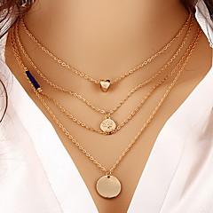 preiswerte Halsketten-Damen Mehrschichtig Anhängerketten / Ketten - Perle Modisch, Mehrlagig Golden Modische Halsketten Schmuck Für Party, Alltag, Normal