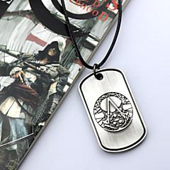 Korut Innoittamana Assassin's Creed Cosplay Anime/Video Pelit Cosplay-Tarvikkeet kaulakoru Hopea Metalliseos Uros / Naaras