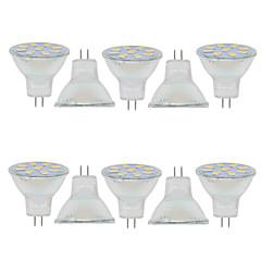 preiswerte LED-Birnen-10 Stück 2W 150-200lm GU4(MR11) Lichtdekoration MR11 9 LED-Perlen SMD 5730 Dekorativ Warmes Weiß Kühles Weiß 9-30V