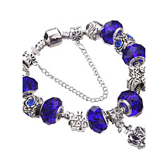 Style Silver Crystal Charm Bracelet for Women Beads DIY Jewelry #YMGP1017 Christmas Gifts