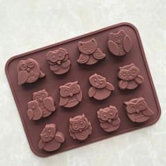 1 coacere Instrumentul de coacere Biscuiți / Cupcake / Plăcintă / Pizza / Ciocolatiu / Gheață / Pâine / Tort Cauciuc De SiliconForme