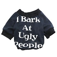 お買い得  犬用ウェア&アクセサリー-ネコ 犬 Tシャツ 犬用ウェア 花/植物 ブラック レッド コットン コスチューム ペット用 男性用 女性用 ファッション