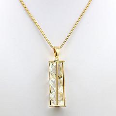 preiswerte Halsketten-Damen Kubikzirkonia Anhängerketten - Zirkon, vergoldet damas, Modisch Gold Modische Halsketten Schmuck Für Alltag, Verabredung