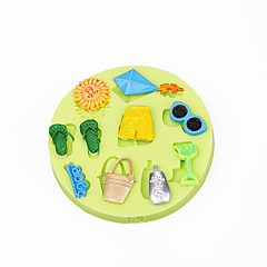 nyári strand játék cupcake dekoráció szilikon csokoládé öntőforma fondant színes véletlenszerű