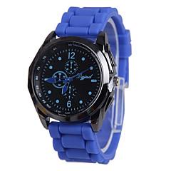 preiswerte Damenuhren-Damen Modeuhr Armbanduhren für den Alltag Quartz Armbanduhren für den Alltag Silikon Band Schwarz Weiß Blau Rot Orange Gelb