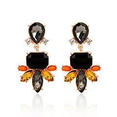 preiswerte Ohrringe-Damen Kristall Tropfen-Ohrringe - Krystall, vergoldet Retro, Modisch Regenbogen Für Hochzeit Party Alltag