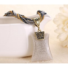 preiswerte Halsketten-Damen Geometrisch Anhängerketten - Modisch Blau, Leicht Grün, Königsblau Modische Halsketten Für Hochzeit, Party, Alltag