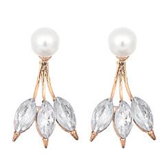 preiswerte Ohrringe-Damen Kristall - Perle, Krystall, vergoldet Blattform Retro, Party, Freizeit Gold Für Hochzeit Party Alltag