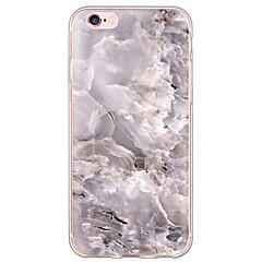 Недорогие Кейсы для iPhone 5с-Кейс для Назначение Apple iPhone X / iPhone 8 / iPhone 6 Plus Ультратонкий / Полупрозрачный Кейс на заднюю панель Мрамор Мягкий ТПУ для iPhone X / iPhone 8 Pluss / iPhone 8