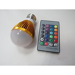 E26/E27 LED-älyvalot A60(A19) 1 ledit Teho-LED Tunnistin Infrapunasensori RGB 100-230lm 2000-3500K AC 85-265V