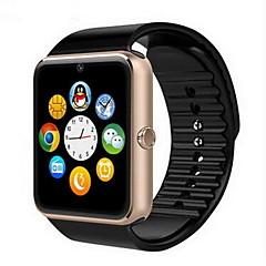 preiswerte Tolle Angebote auf Uhren-Herrn Smartwatch Digital Touchscreen Alarm Kalender Caucho Band digital Luxus Schwarz - Gold Schwarz Silber / Fernbedienungskontrolle / Schrittzähler / Fitness Tracker / Stopuhr