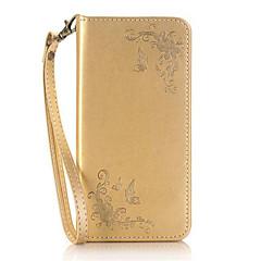 Для Кейс для iPhone 6 / Кейс для iPhone 6 Plus Кошелек / Бумажник для карт / со стендом / Флип / С узором Кейс для Чехол Кейс для Бабочка