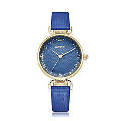 preiswerte Armbanduhren für Paare-KEZZI Damen Armbanduhr Schlussverkauf PU Band Blume / Freizeit / Modisch Schwarz / Blau / Rot