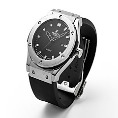 preiswerte Herrenuhren-Damen Paar Unisex Modeuhr Armbanduhr Quartz 30 m / Caucho Band Analog Freizeit Schwarz - Schwarz Silber Rotgold