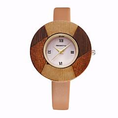 REBIRTH Dames Modieus horloge Polshorloge Kwarts / PU Band Vrijetijdsschoenen Elegante horloges Rood Orange Bruin Beige